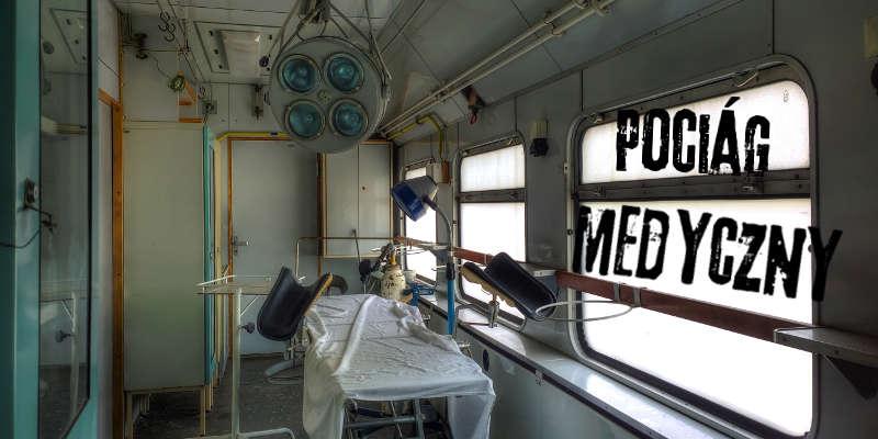 opuszczony pociąg medyczny